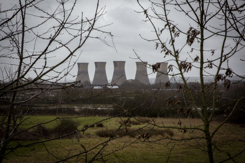 Four cooling towers.