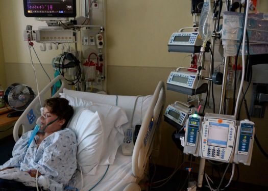 13-year-old boy recovering in a Denver hospital from a suspected case of human enterovirus 68 during a 2014 outbreak.