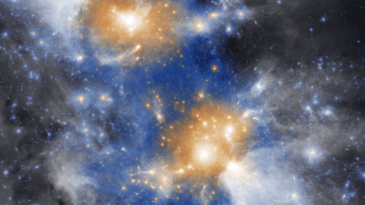 Image of a complex, structured cluster of colors.