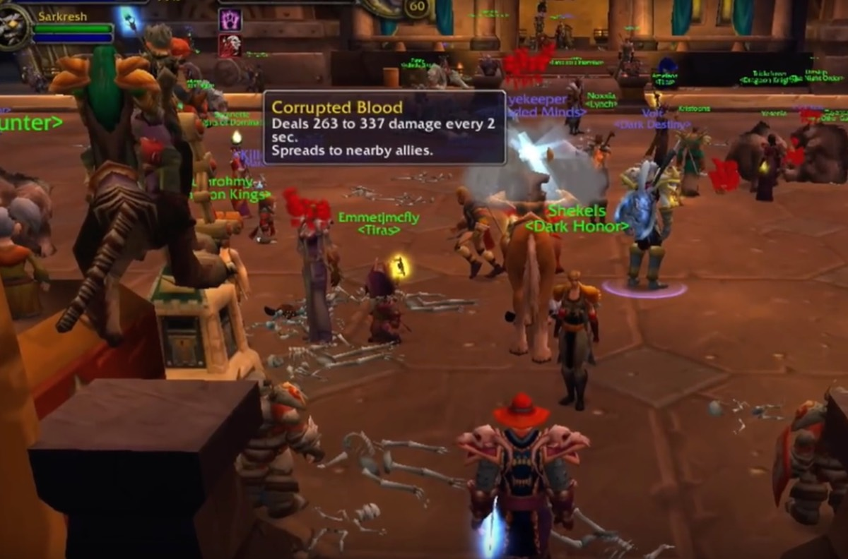 The 2005 Corrupted Blood incident in <em>World of Warcraft</em> attracted the interest of epidemiologists, who hoped to use the data to improve their models for how diseases spread.