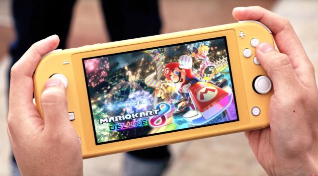 The Nintendo Switch Lite.