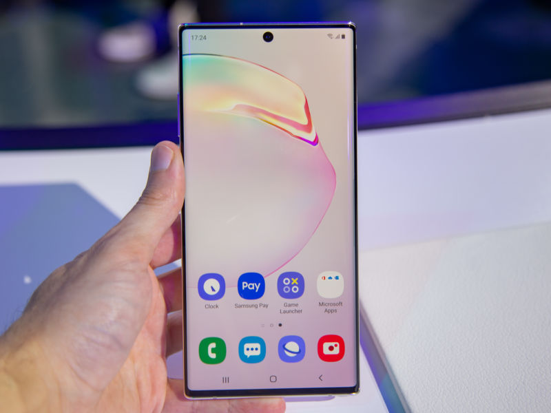 Pictures of the Galaxy Note10.