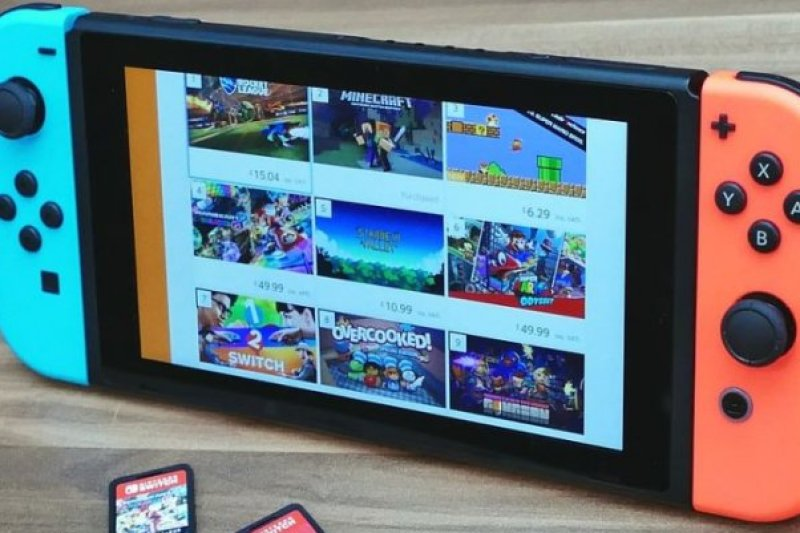"""The """"overcooked"""" game listing in this shot is a little on-the-nose, for a lot of Switch owners who tried using third-party cables, chargers, or docks with the portable console."""