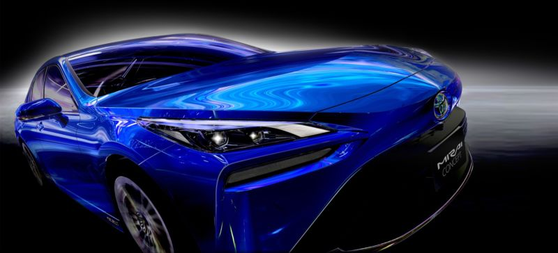 Toyota wouldn't let us take photos of the Mirai, but it shared these images.