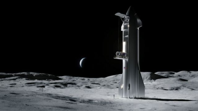 A Starship on the Moon? It could happen in as few as three years.