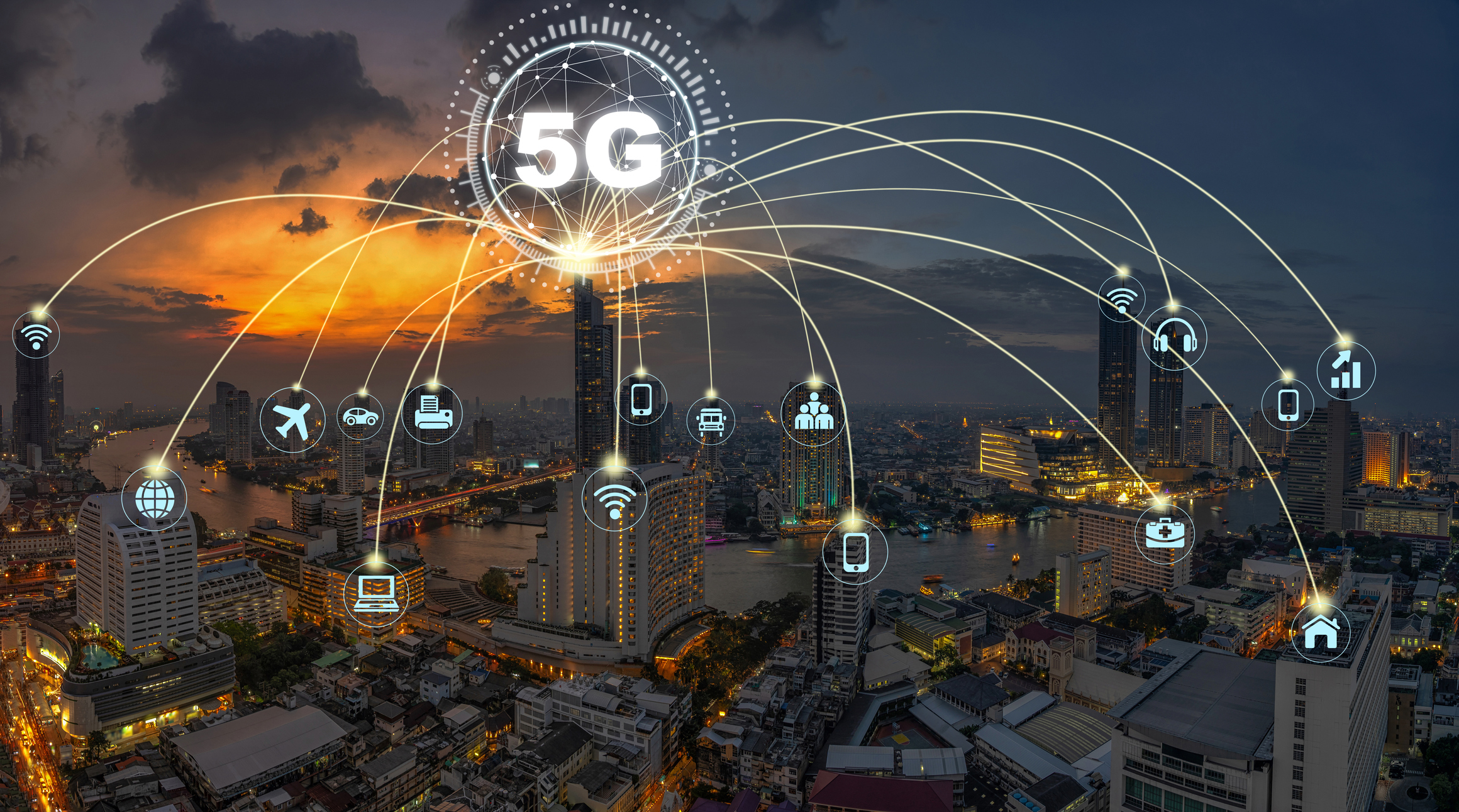 "There are a lot of ""5G"" stock images available. Some of them are more optimistic than others. This is one of the more optimistic ones."