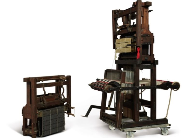 This Jacquard-driven loom, circa 1850, is considered an early predecessor of the first computers.