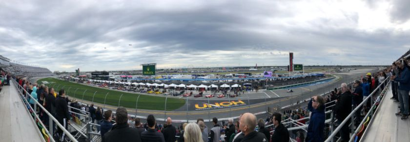 I really hope the weather for the this year's Rolex 24 is better than 2019.