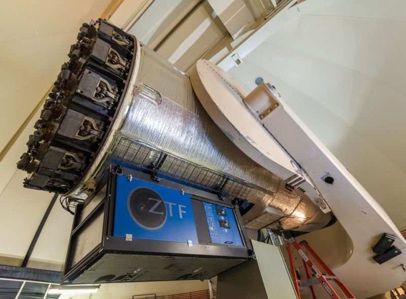 The Zwicky Transient Facility at Palomar Observatory in California.