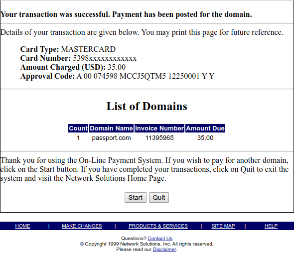 Linux consultant Michael Chaney paid the renewal fee for Passport.com on Christmas day 1999, restoring access to Microsoft's Hotmail free email service.