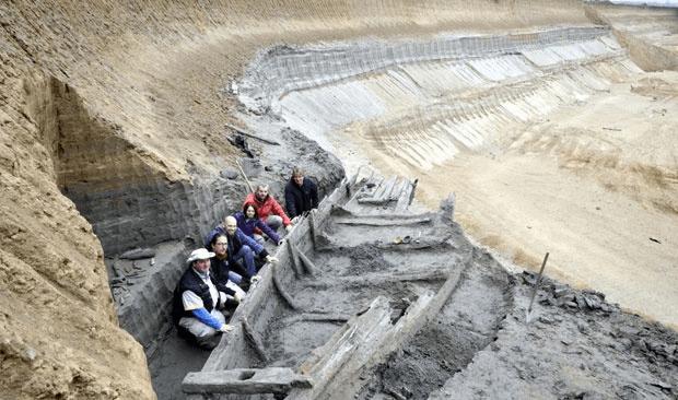 Probable Roman shipwrecks unearthed at a Serbian coal mine