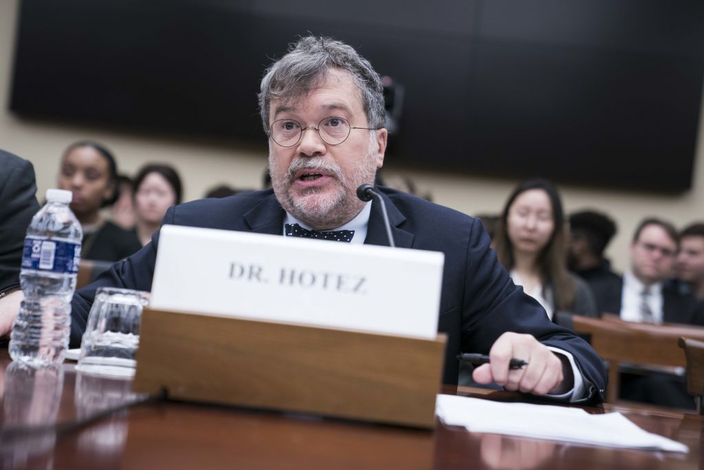 Peter Hotez, a professor at the Baylor College of Medicine, says the development of a vaccine should not be viewed as a manufacturing problem.