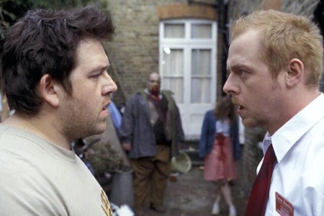 Classic zom-com <em>Shaun of the Dead</em> (2004) is the first film in Simon Pegg and Edgar Wright's <em>Three Flavours Cornetto</em> trilogy.