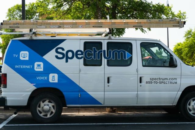 A Charter Spectrum service van used by a cable technician.