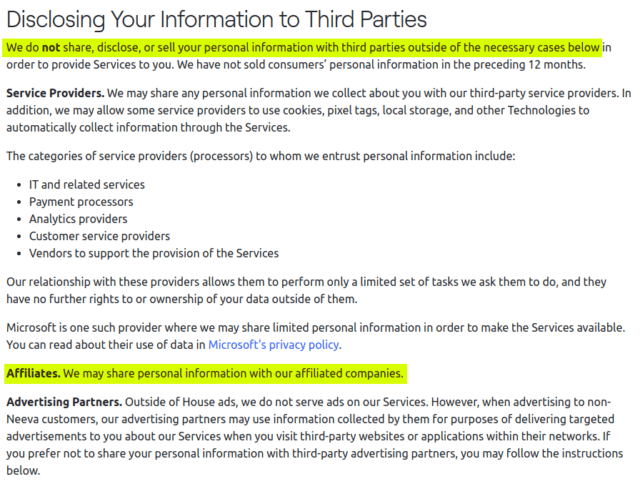 We do <strong>not</strong> share, disclose, or sell your personal information with third parties. Except when we do.
