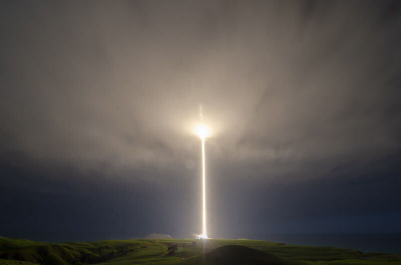An Electron rocket launches in August 2019 from New Zealand.