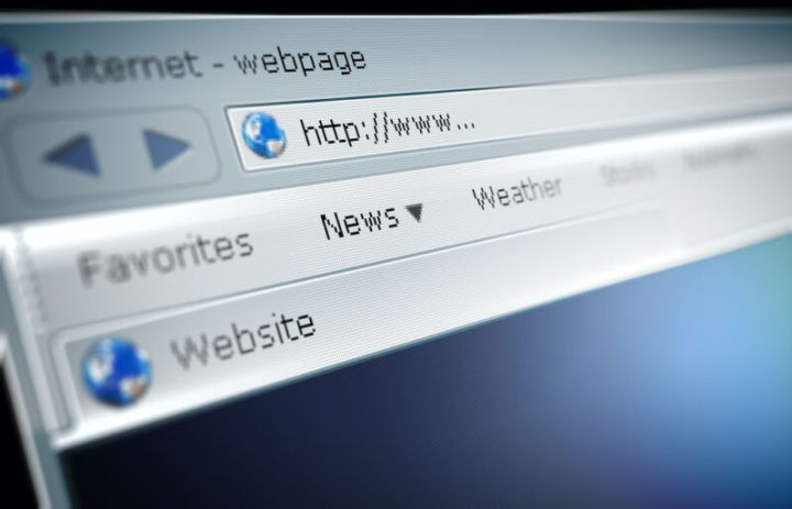 Extreme close-up photograph of Web browser window.