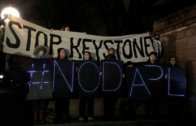 pipelineprotest-800x513 Keystone XL pipeline canceled after Biden scraps US permit | Ars Technical