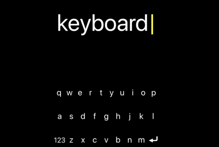 The FlickType keyboard running on an iPhone.