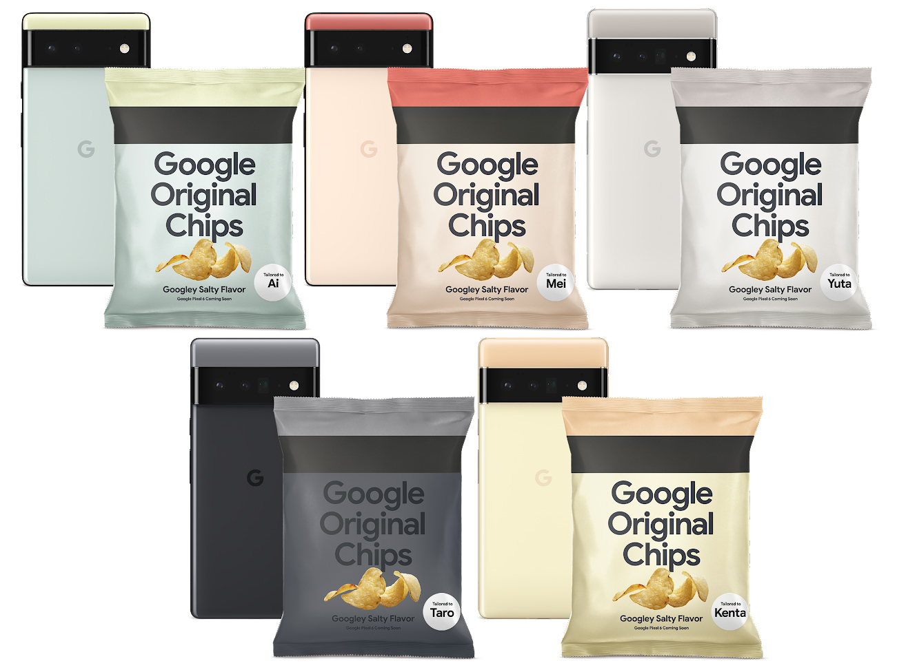 Google's Tensor SoC gets a promotional bag of potato chips—but only in Japan.