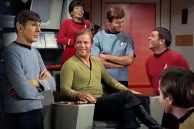 The intrepid crew of <em>Star Trek: The Original Series</em>, which debuted in September 1966 and launched a media empire.