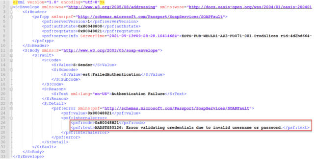 Error codes generated when Autologon authentication fails.