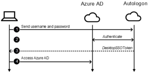 Autologon username/password log-on process.
