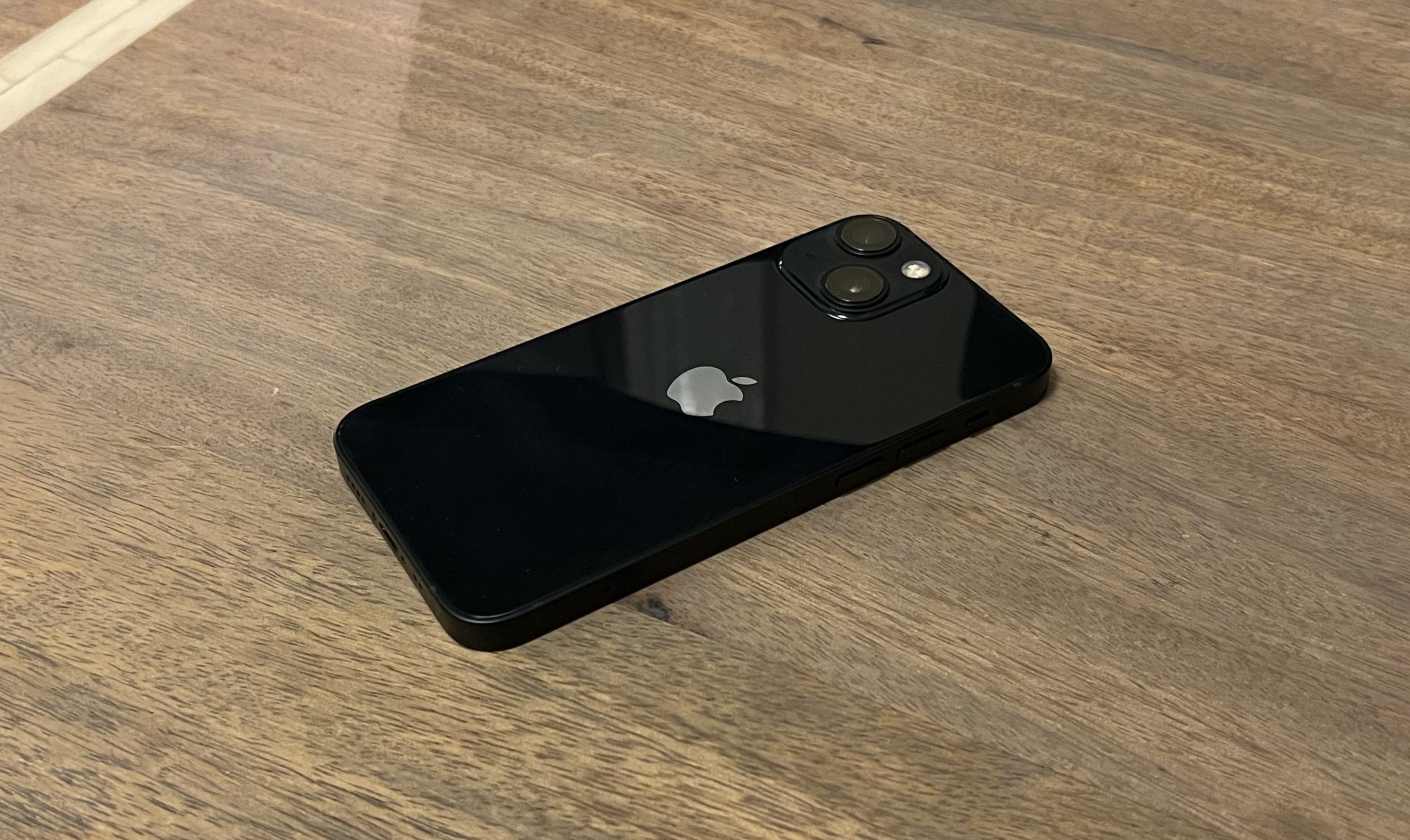 The back of the iPhone 13 mini.