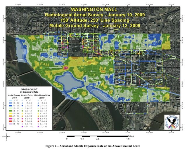 Map prepared by NNSA for the 2009 presidential inauguration.  pay attention