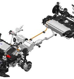 c hr hybrid drivetrain note battery under rear seats  [ 3500 x 1969 Pixel ]