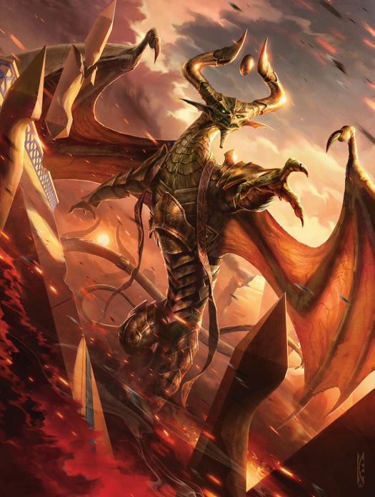 Elder dragon planeswalker deity Nicol Bolas is here, and he's going to royally ruin your day.