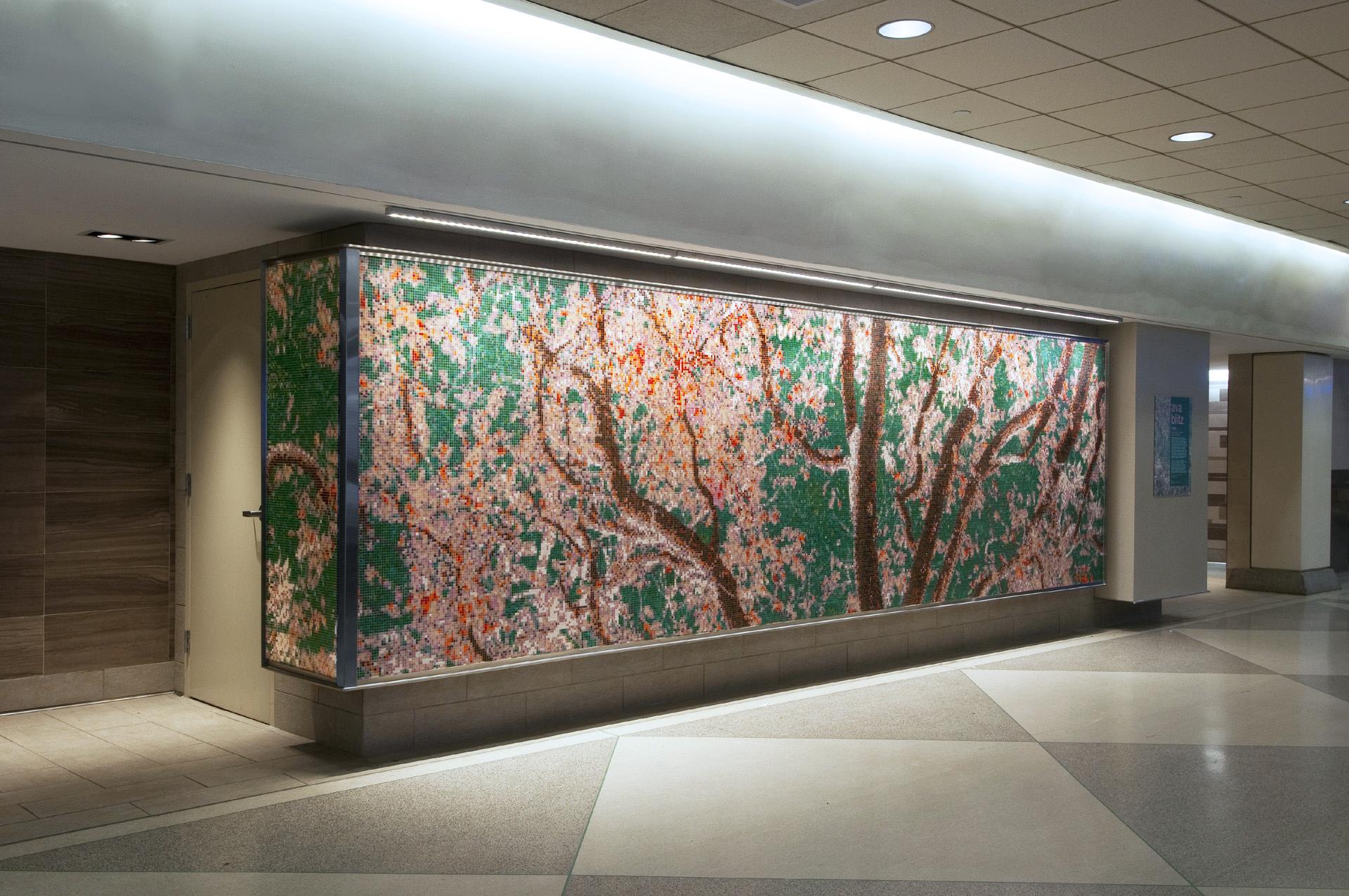 Philadelphia Airport Pink Public Art Mosaic  ARTAIC