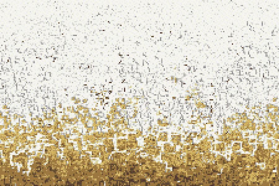 Yellow Waves Tile Pattern Rising Tide Gold By ARTAIC