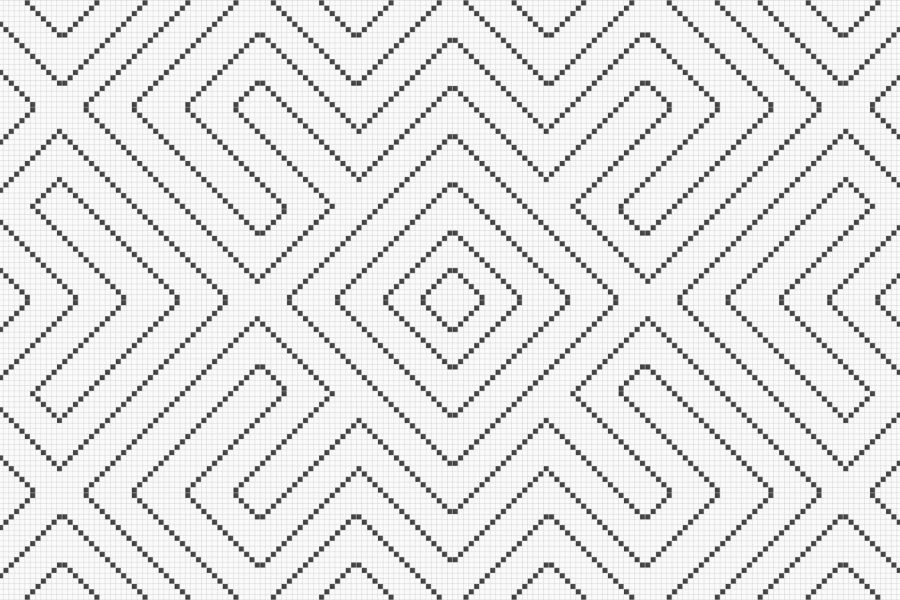 white repeating tile pattern