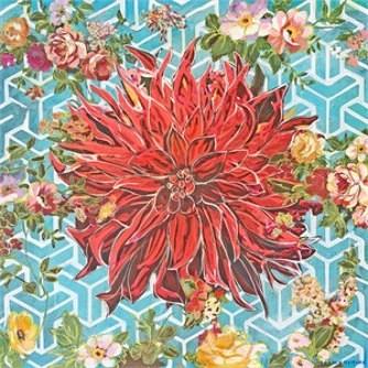 (May Abundance Flower) Geo Teal
