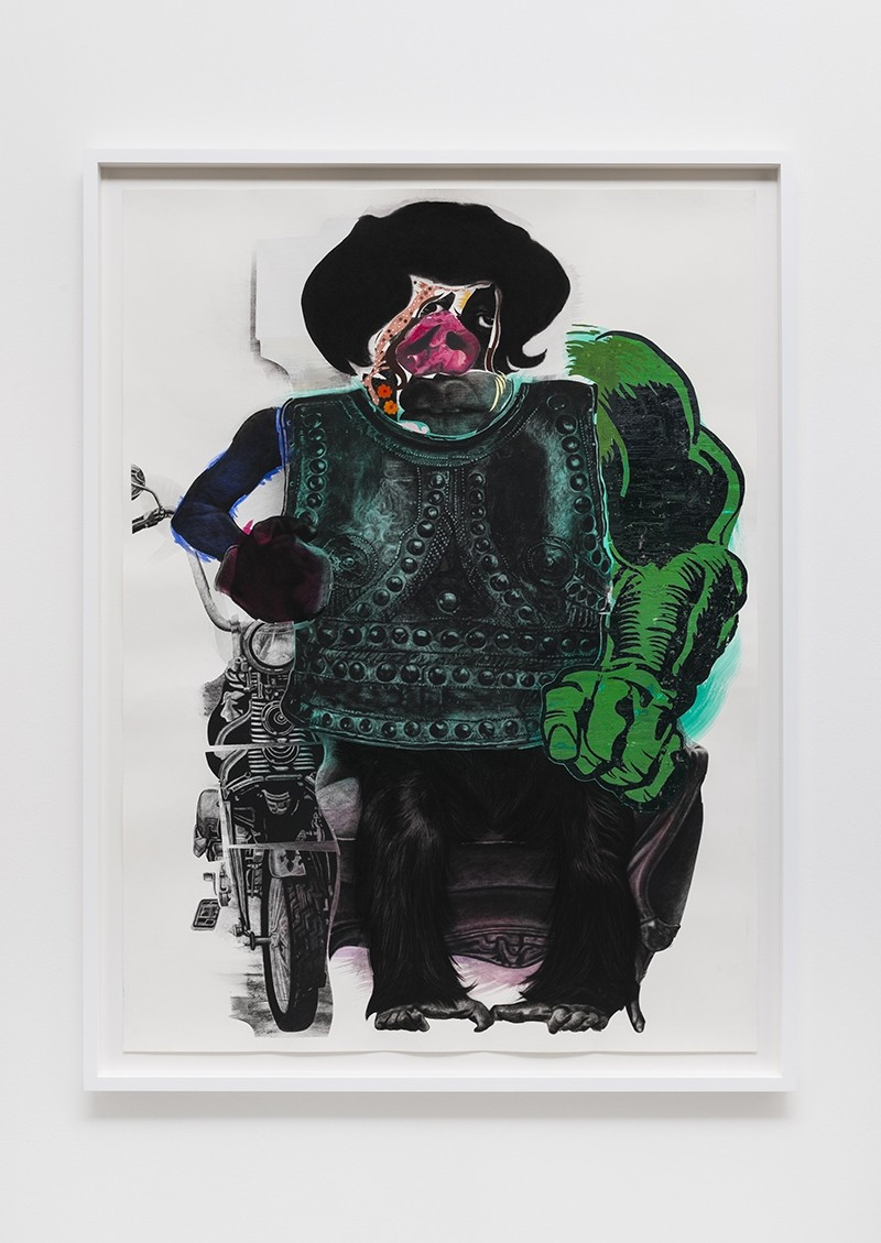 London  Nathaniel Mary Quinn PastPresent at Pace Gallery Through October 4th 2014  AO