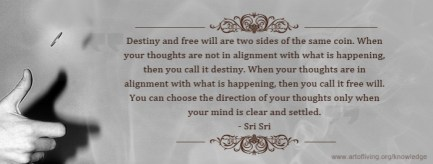 Guruji on Destiny and free will