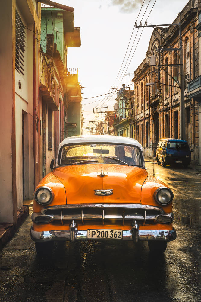 If you're purchasing your first car, buying used is an excellent option. Wallpaper Orange American Vintage Car Wall Mural Orange American Vintage Car Artphotolimited