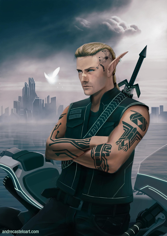 Male Cyberpunk Character Concept Art