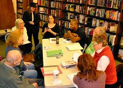 A critique group in a library | Critique Group or Beta Readers | Will Zeilinger