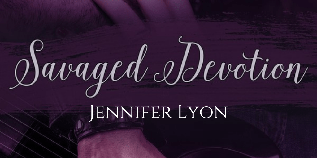 Cover title Savaged Devotion and author's name Jennifer Lyon