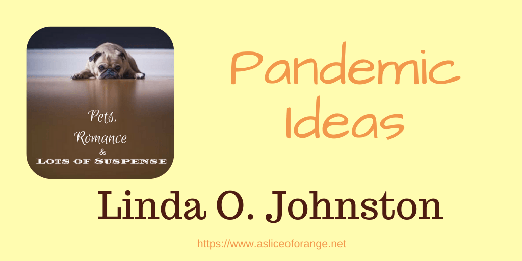 """the title """"Pandemic Ideas"""" with picture of a small dog looking at the viewer"""