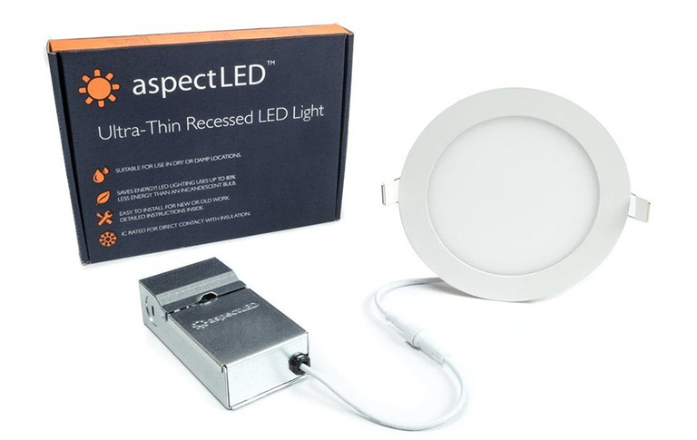 ultra thin recessed led fixture