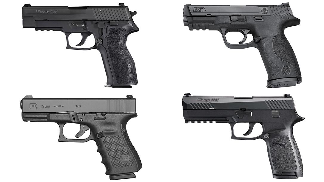police sidearms the handguns