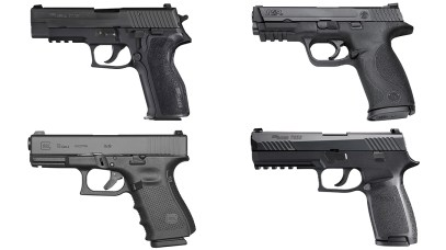 Police Sidearms, police duty pistols, Handguns, America's Largest Police Departments 2018