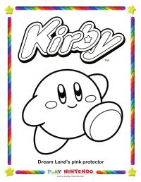 Colorear A Kirby Lujo Kirby Para Colorear Motivo