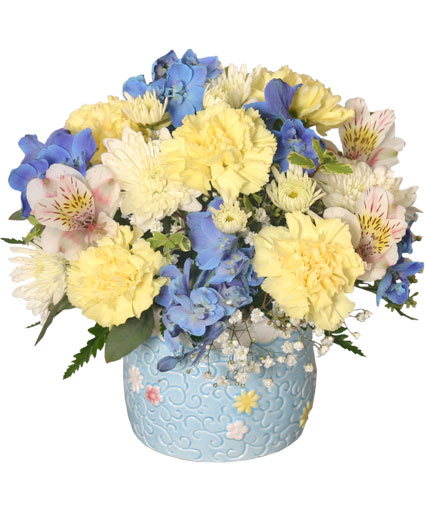 baby boy blooms floral
