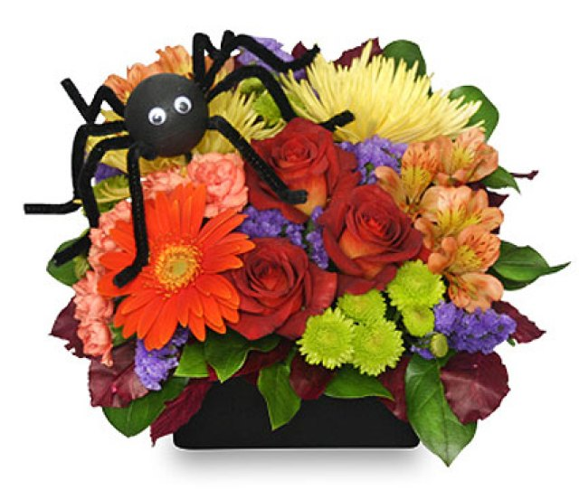 Along Came A Spider Halloween Bouquet