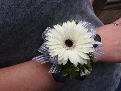 Gerbera Daisy Wrist Corsage in Saint Johnsbury VT  ALL