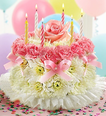 Happy Birthday To You Pretty In Pastel Floral Cake Not Edible In